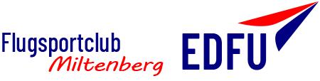 EDFU-DER Flugplatz Mainbullau – Flugsportclub Miltenberg Logo